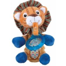 Мягкая игрушка Nuby Лев, с держателем для пустышки (5853leo)