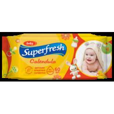 Влажные салфетки Super Fresh Calendula, для детей и мам, 60 шт.