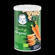 Снеки пшенично-овсяные Gerber Organic с морковкой и апельсинами, 35 г