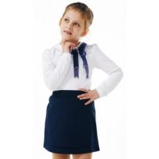 Юбка Smil Школа - 2019, стрейчевый футер, р.140, темно-синий (120233)