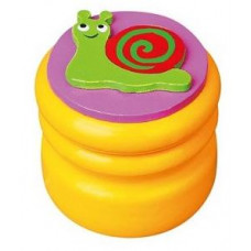 Шкатулка для молочных зубов Viga Toys Зубная фея Улитка, желтый (53911)