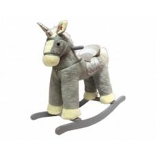 Игрушка-качалка Rock my Baby Eдинорог, серый (JR6014)