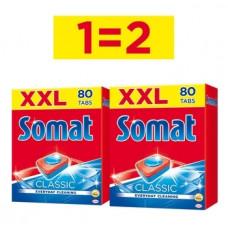 Таблетки для посудомоечных машин Somat Classic, 2х80 шт.