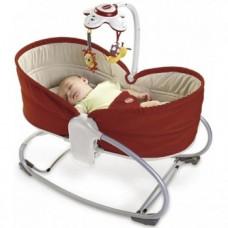 Кресло-кроватка-качалка Tiny Love Мамина любовь 3 в 1, красное