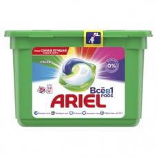 Капсулы для стирки Ariel Pods Все-в-1 Color, для цветных тканей, 15 шт.