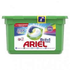 Капсулы для стирки Ariel Pods Все-в-1 Touch of Lenor Fresh Color, для белых и цветных тканей, 12 шт.