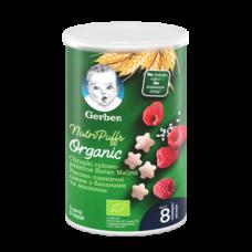 Снеки рисово-пшеничные Gerber Organic с бананом и малиной, 35 г