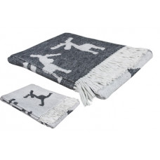 Плед LightHouse Funny moose, 200х140 см, серый (550293)