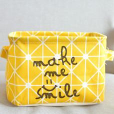 Корзина для игрушек, белья, хранения Улыбка, желтый