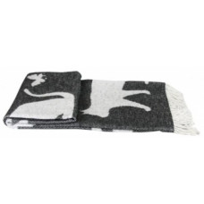 Плед LightHouse Meow, 200х140 см, серый с белым (547064)