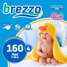 Набор подгузников Brezzo Maxi 4 (7-18 кг), 160 шт.