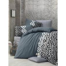 Комплект постельного белья LightHouse Yaren, бязь, 220х160 см, серый (34366_1,5)
