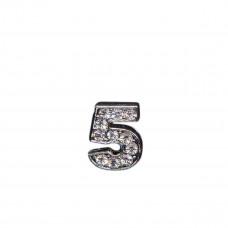 Цифра 5 со стразами