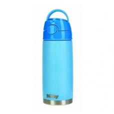 Термос-поильник Nuby, с трубочкой, 420 мл, голубой (NV0414027blu)