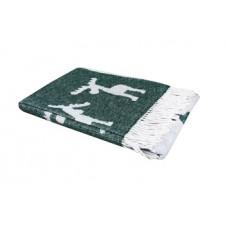 Плед LightHouse Funny moose, 200х140 см, зеленый (550354)