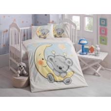 Комплект постельного белья LightHouse Pitircik, ранфорс, 150х100 см, белый с голубым (44223)