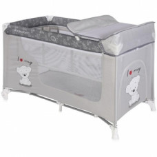 Манеж-кровать Lorelli Moonlight 2L Grey Bear, серый (20838)