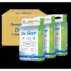 Одноразовые гигиенические пеленки Dr. Skipp Soft Line, супервпитывающие, 60х60 см, 30 шт. (3 уп. х 10 шт.)
