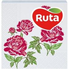 Бумажные салфетки Ruta Double Luxe Флора, 40 шт.