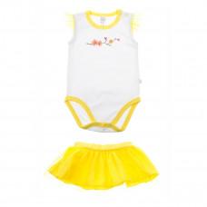 Комплект SMIL боди и юбка белый/желтый, р. 86 113255 ТМ: SMIL