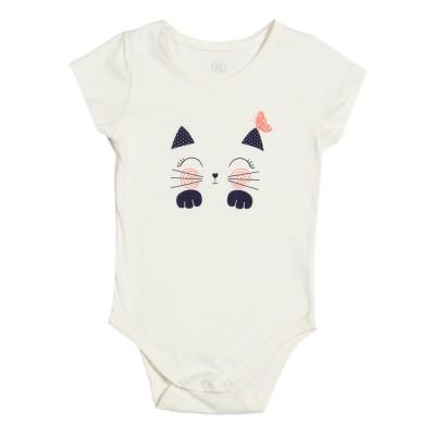 Боди Фламинго Cat молочного цвета, р. 68 467-110 ТМ: ФЛАМИНГО