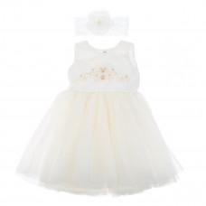 Платье Betis Настюша молочного цвета с повязкой, р. 80 27081526 ТМ: Бетис