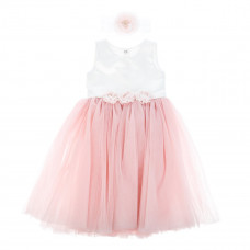 Платье Betis Эмилия пудровое с повязкой, р. 86 27081550 ТМ: Бетис