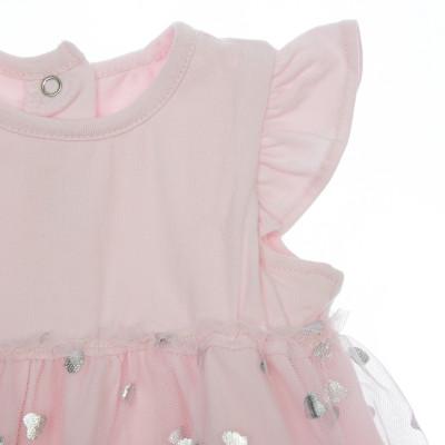 Боди-юбка BluKids Bio Cotton Silver Hearts, р. 56 5666434 ТМ: BluKids