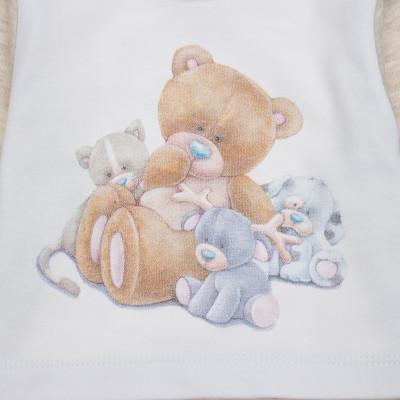 Боди Garden baby Друзья мишки Бежевый, р. 74 19924-02 ТМ: Garden baby