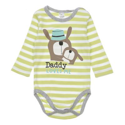Боди SMIL Daddy Loves Me Green, р. 80 102488 ТМ: SMIL