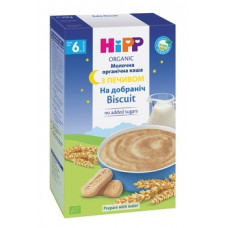 Молочная органическая каша HiPP Спокойной ночи, с печеньем, 250 г