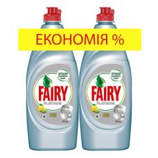 Средство для мытья посуды Fairy Platinum Лимон и Лайм, 2х650 мл