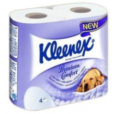 Четырехслойная туалетная бумага Kleenex Премиум Комфорт, 4 рулона