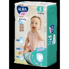 Подгузники-трусики Aura Baby 5/XL (13-20 кг), 40 шт.