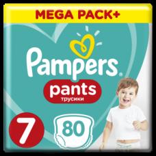 Подгузники-трусики Pampers Pants 7 (17+ кг), 80 шт.