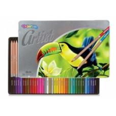 Карандаши цветные Colorino Рremium Artist, в металлической упаковке, мягкие, 36 цветов (83270PTR)