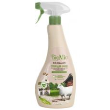 Экологичный гипоаллергенный чистящий спрей для кухни и всех поверхностей BioMio Bio-Kitchen Cleaner Лемонграсс антижир, концентрат, 500 мл