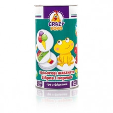 Игра в тубусе Vladi Toys Crazy Koko Цветные лягушата, укр. язык (VT8020-06)