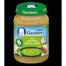 Суп-пюре Gerber с зелеными овощами и гречкой, 190 г