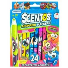 Набор ароматных маркеров Scentos Тонкая линия, 24 цвета (40722)