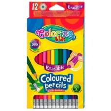 Набор цветных карандашей Сolorino Erasable, 12 цветов (92531PTR)