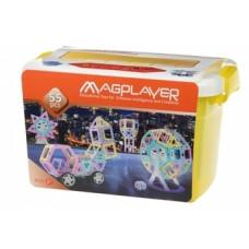 Магнитный конструктор Magplayer, 55 элементов (MPT2-55)